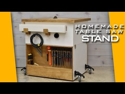 Homemade Table Saw, Jigsaw, Router Workstation  Modular - YouTube