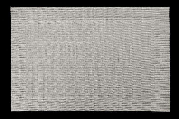 Czarna obramówka podkładka na stół do jadalni koloru srebnego