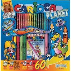Színező és kifestő készlet 60 darabos Carioca Planet - Carioca filctoll Ft Ár 1,990