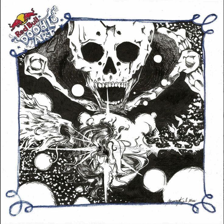 Red Bull Doodle Art Bernard Kyle G. Blas
