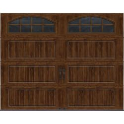 Ideal Door® 9 ft. x 7 ft. Walnut Long Panel Carriage House Insulated Garage Door