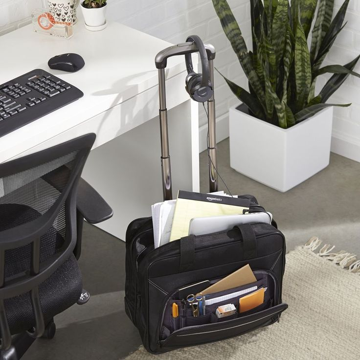 Rolling Laptop Case 17Inch Computer Business Bag Wheeled Travel Carry On Lightwe #AmazonBasics