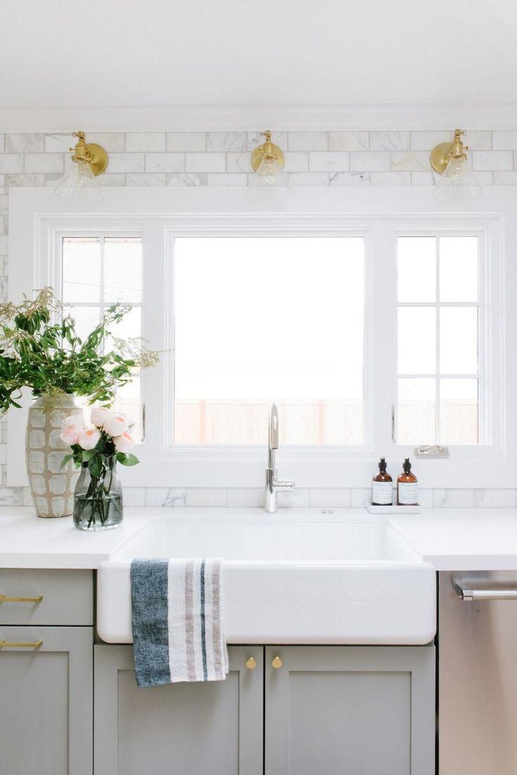 Best 25 Kitchen Sink Window Ideas On Pinterest Kitchen Window Curtains Farmhouse Style