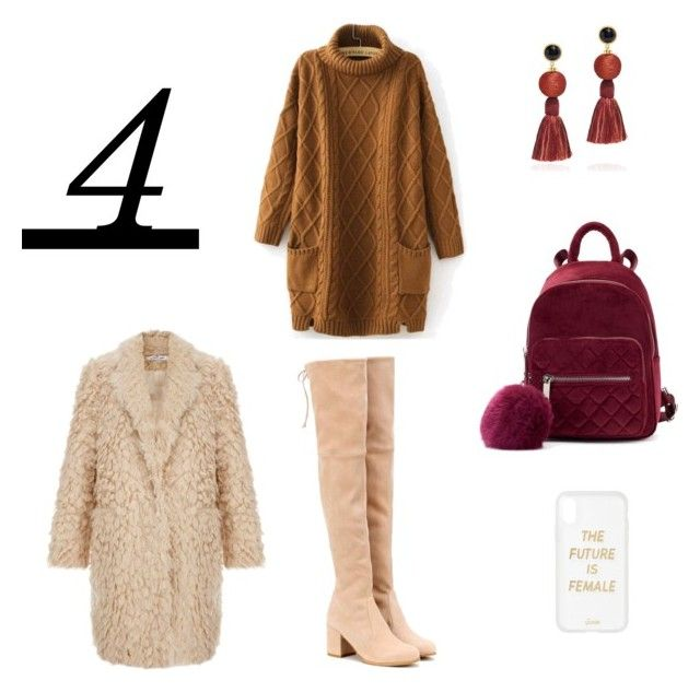 Winter outfit by fiorim on Polyvore featuring Stuart Weitzman, Lizzie Fortunato and Sonix