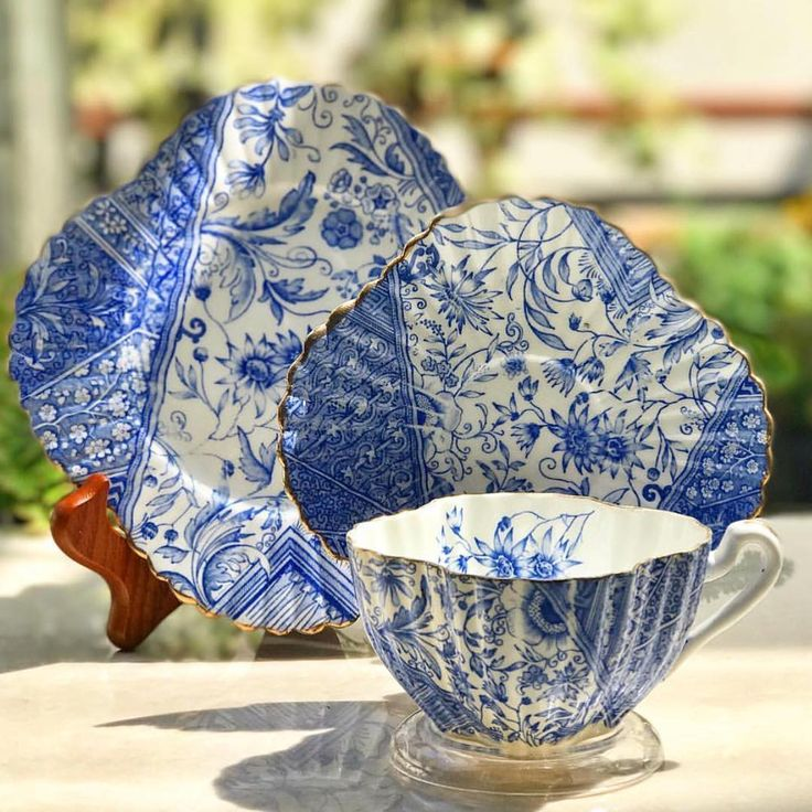 """186 Likes, 4 Comments - Harmony Piring16 (@harmony_piring16) on Instagram: """"Antique Blue Teacup in Trio by Wileman England #blueteacup #antiqueteacup #vintageteacup #teacups…"""""""