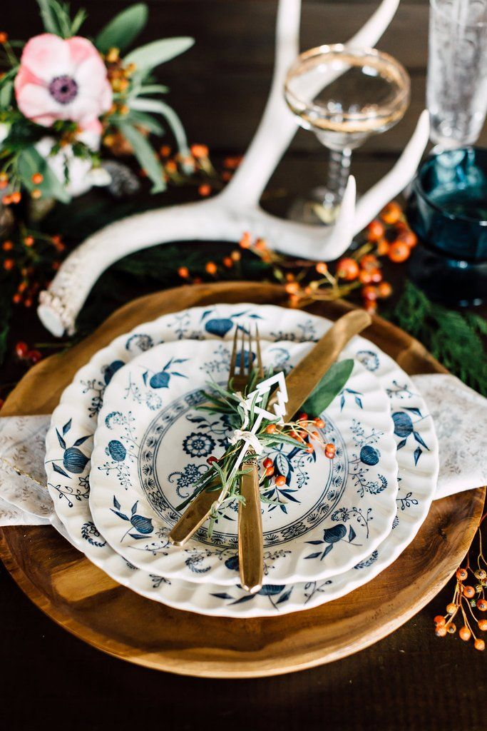 Blue Nordic Dinnerware Set by Johnson Brothers