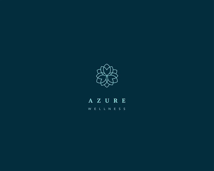 Azure Brand Identity - Wellness ,Spa ,Yoga studio on Behance