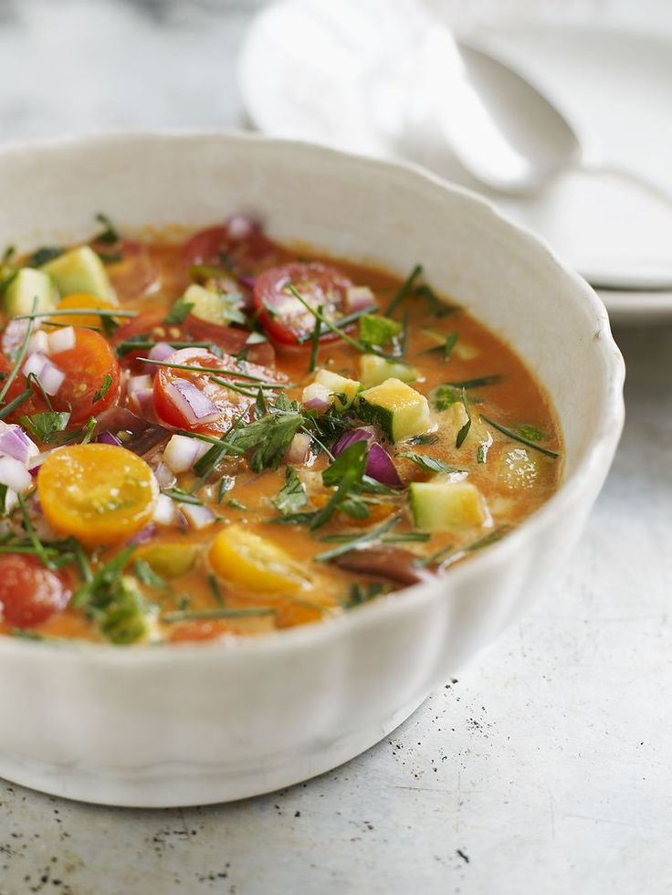 This Rainbow Soup is Great for a Low-Carb Diet. Can add turkey sausage or cheese