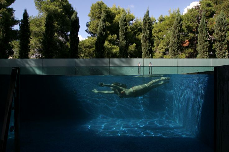 Diving in the pool is a #bliss...
