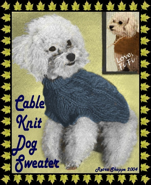 Douglas Dog Knitting Pattern : DogGone Knit: Free Dog Sweater Patterns - Squidoo : Welcome to Squidoo DIY ...