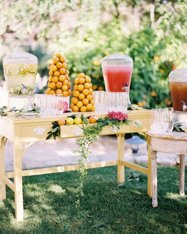 bar à limonade pour le vin d'honneur