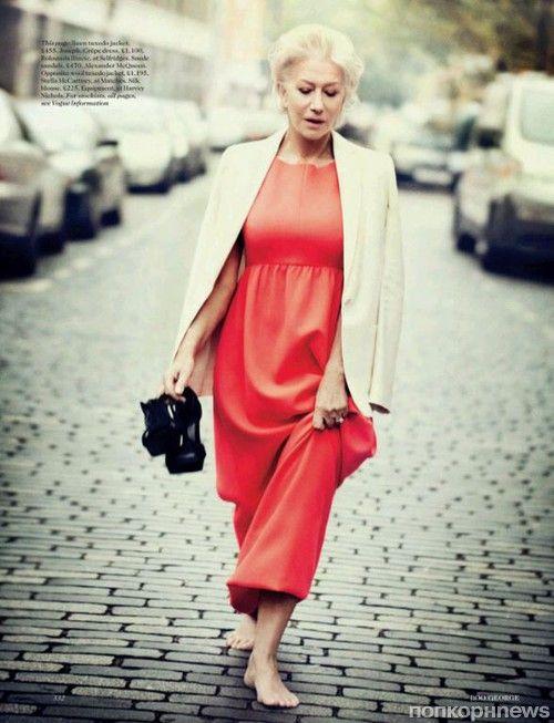 Хелен Миррен в журнале Vogue Великобритания. Март 2013- popcornnews
