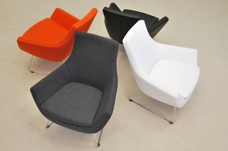 Modern Occasional #Chair in wool or Leatherette