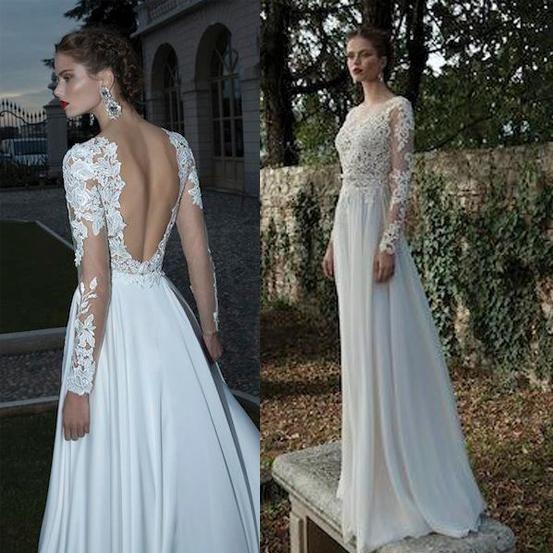 Luxusní šifonové a krajkové svatební šaty na míru - zvětšit obrázek