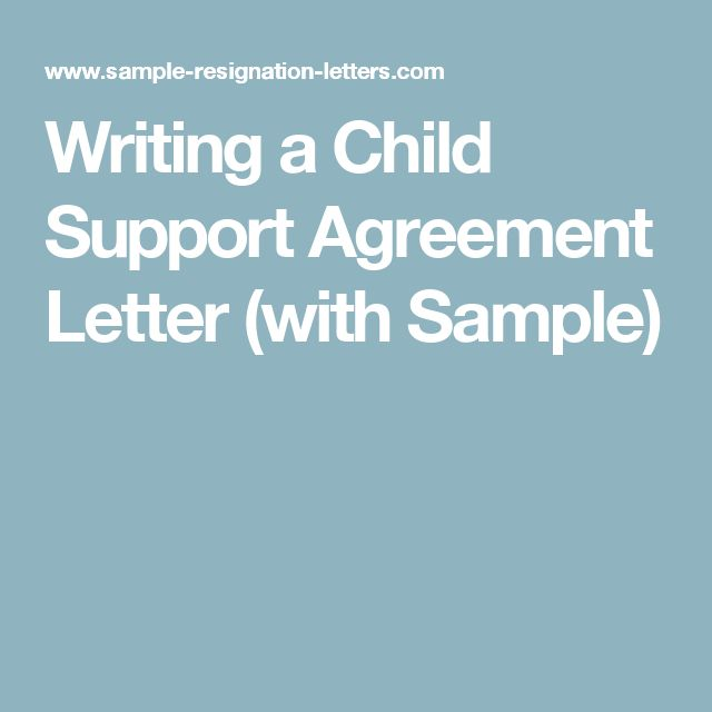 Column #3 - Government by the people, for the people? Maybe this - sample child support agreement