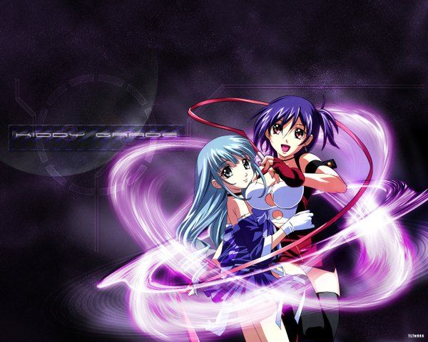 Anime picture 1280x1024 with  kiddy grade gonzo eclair lumiere gotoh keiji ribbon (ribbons)