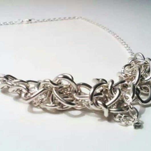//SILVER KNOT NECKLACE // ByValquiria