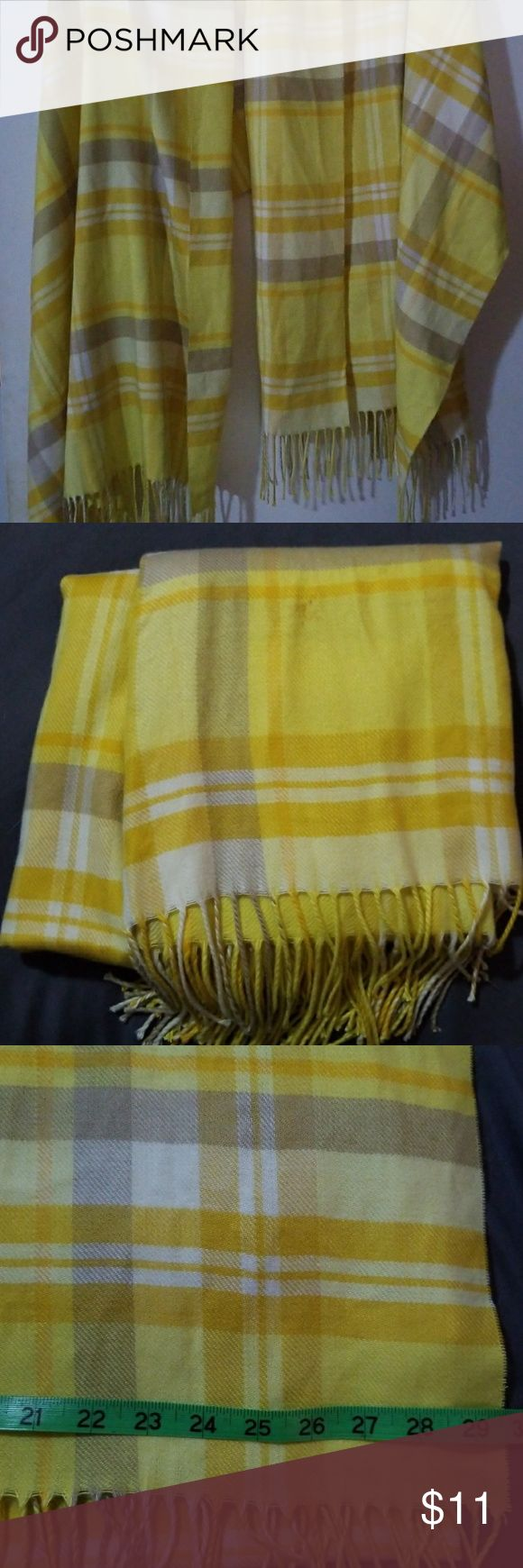 Plaid Scarf Soft Yellow, Tan, Cream Scarf Old Navy Accessories Scarves & Wraps