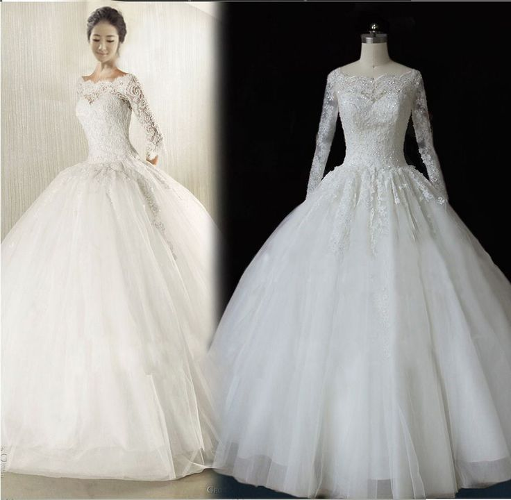 Princess White Ivory Wedding Dress Lace Bridal Gown Custom Size 6/8/10/12/14/16+