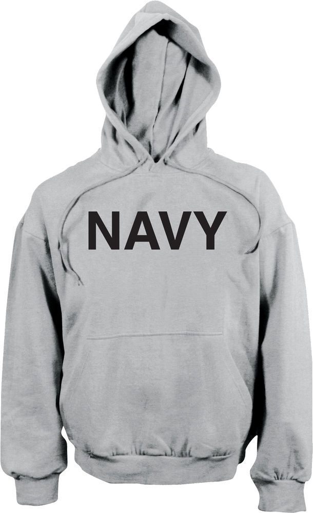 b16ecfe9 Grey Navy Military Pullover Physical Training Hooded Sweatshirt #Rothco # Hoodie