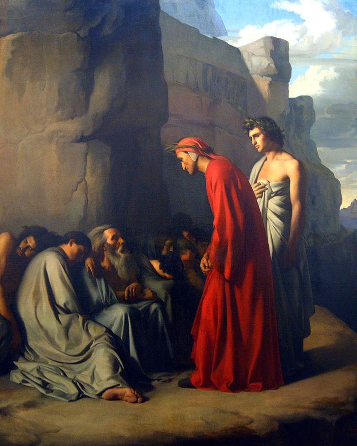 Dante and Virgil | Dante and Virgil in Purgatory, Visiting the Envious Men Struck with ...
