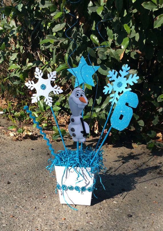 Olaf Disney Frozen Birthday CenterPiece on Etsy