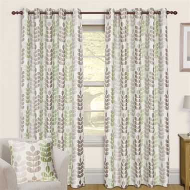 Sardinia Green Eyelet Curtains