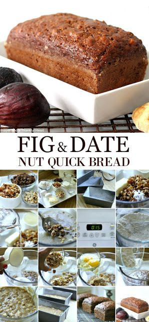 Fig & Date Nut Quick Bread