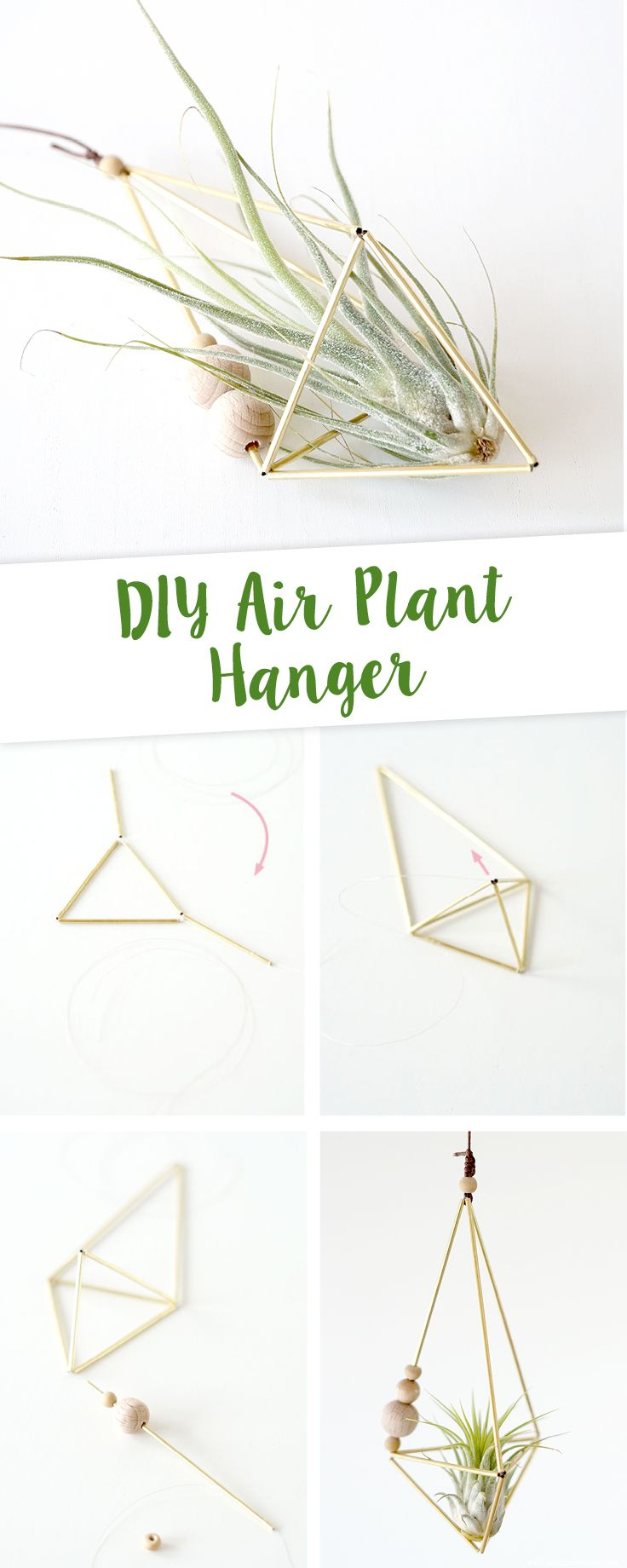 Easy DIY für einen Air Plant Hanger auf www.aentschiesblog.com