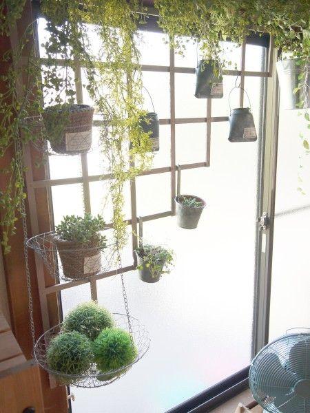 100均グッズとフェイクグリーンで窓辺を飾る | Paradis Modeste