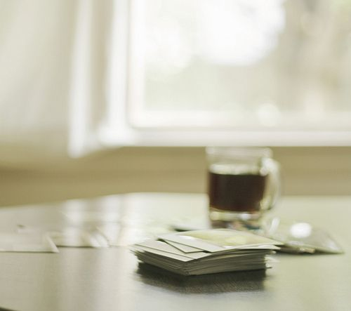 polaroids and coffee.