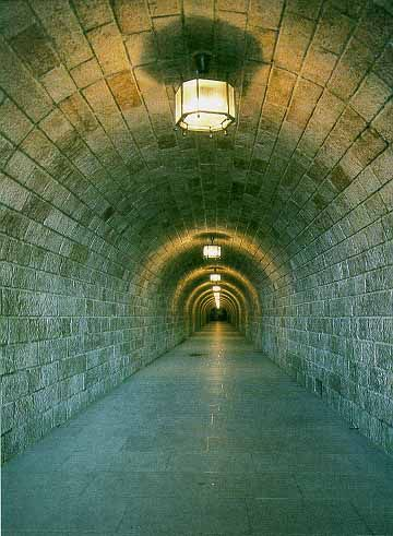 This tunnel is built into the mountain below the Eagle's Nest...at the end of the tunnel is an elevator that takes you up through the mountain right into Hitler's pad. eerie.