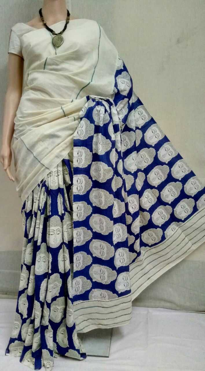 Khes gurjuri saree with printed blouse