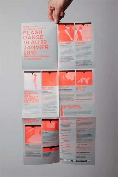 Programme Affiche Flash Danse #1 2009-2010 TU-Nantes (c) Akatre