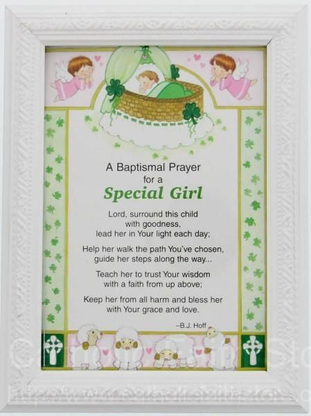 Baby Baptism Gift Ideas Pinterest : Irish baptismal prayer print framed for a girl quot h