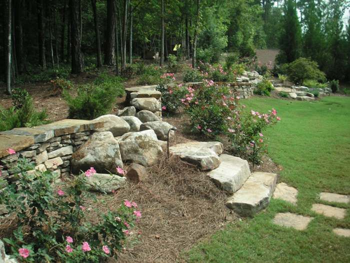 Exceptional 248 Best Stone And Rock Retaining Walls. Images On Pinterest | Landscaping  Ideas, Stone Retaining Wall And Backyard Ideas