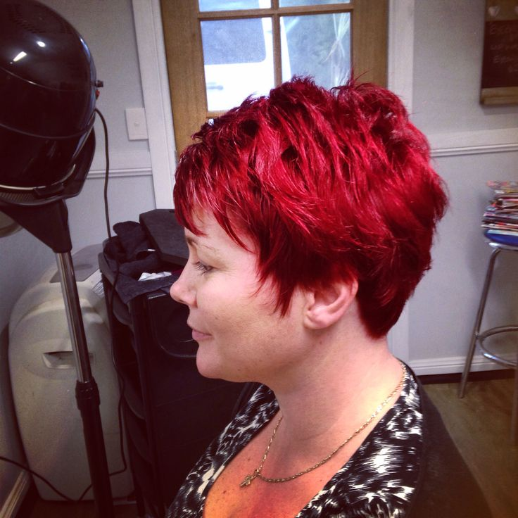 Loving the red I did for a client today!!!