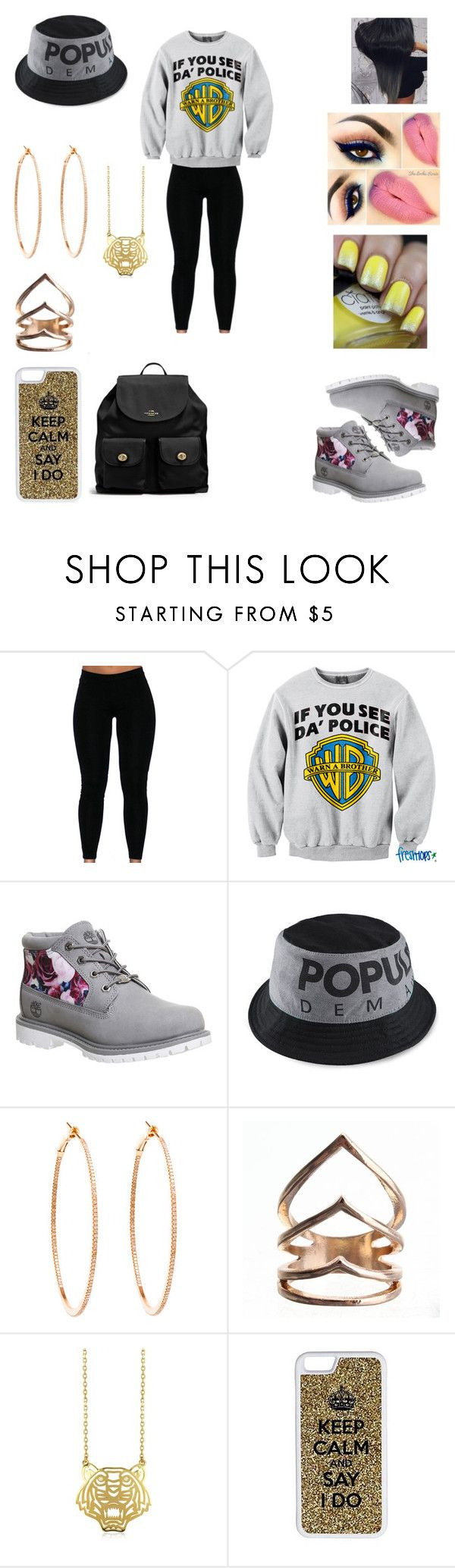 """""""Untitled #61"""" by cristrotter ❤ liked on Polyvore featuring POLICE, Timberland, Rosa de la Cruz, Kenzo, CellPowerCases and Coach"""