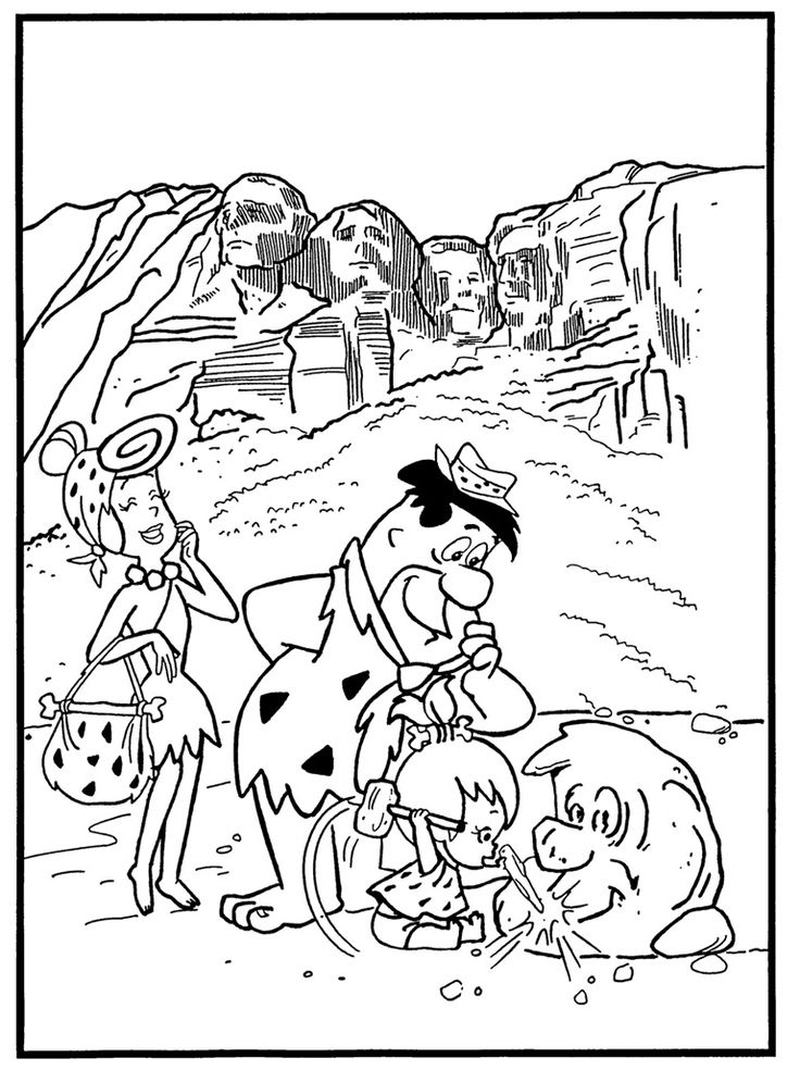 19 best Flintstones Coloring Pages