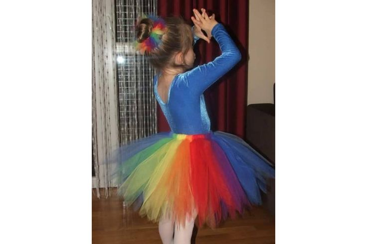 Beautiful pixie tutu made of high quality soft nylon tulle. Colors used: purple, fuchsia, orange, yellow, mint, turquoise. Length