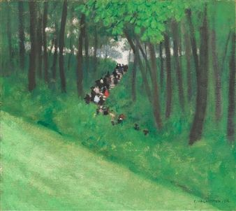BUTTES-CHAUMONT, 1904 By Félix Vallotton