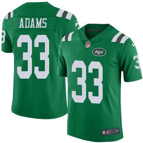 Youth Nike New York Jets #33 Jamal Adams Limited Green Rush NFL Jersey