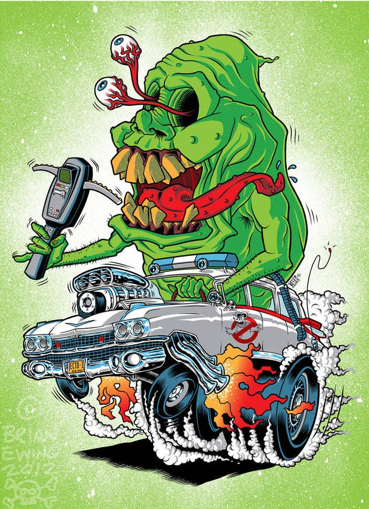 Ghost Fink: Ghosbusters in a Rat Fink car - Boing Boing