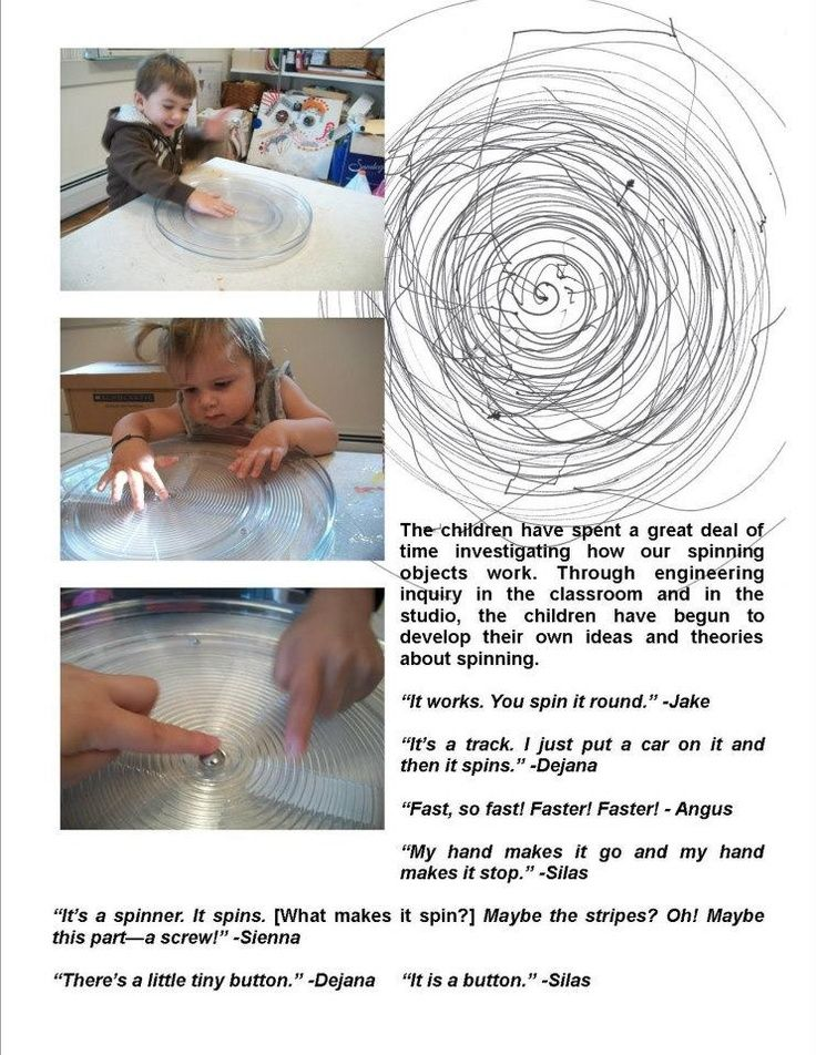 documentation on spinning; I love that this is a documentation for very young children