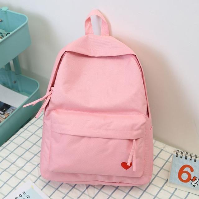 Kids Paris Cat New School Bag Backpack from Korea for Girls Pink color