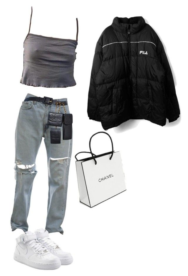 3a6573394b4 DRIVE BACK TO THE HOOD, LAMBO by j99ofw072 on Polyvore featuring polyvore,  Fila, NIKE, Chanel, fashion, style and clothing