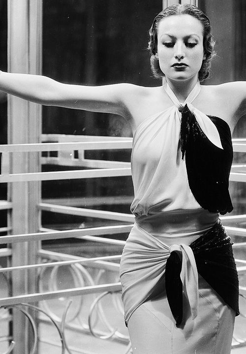 Joan Crawford photographed by George Hurrell on the set of Letty Lynton (1932).