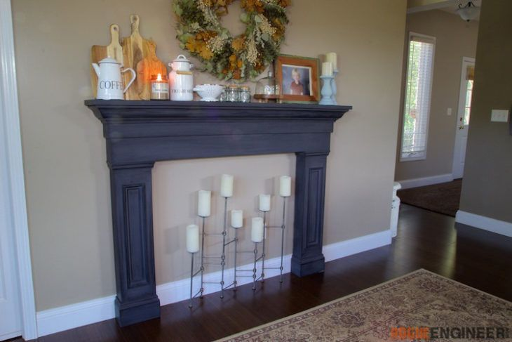 Faux Fireplace Mantel Surround Rogue Engineer Faux Fireplace Faux Fireplace Mantels Fireplace Mantel Surrounds