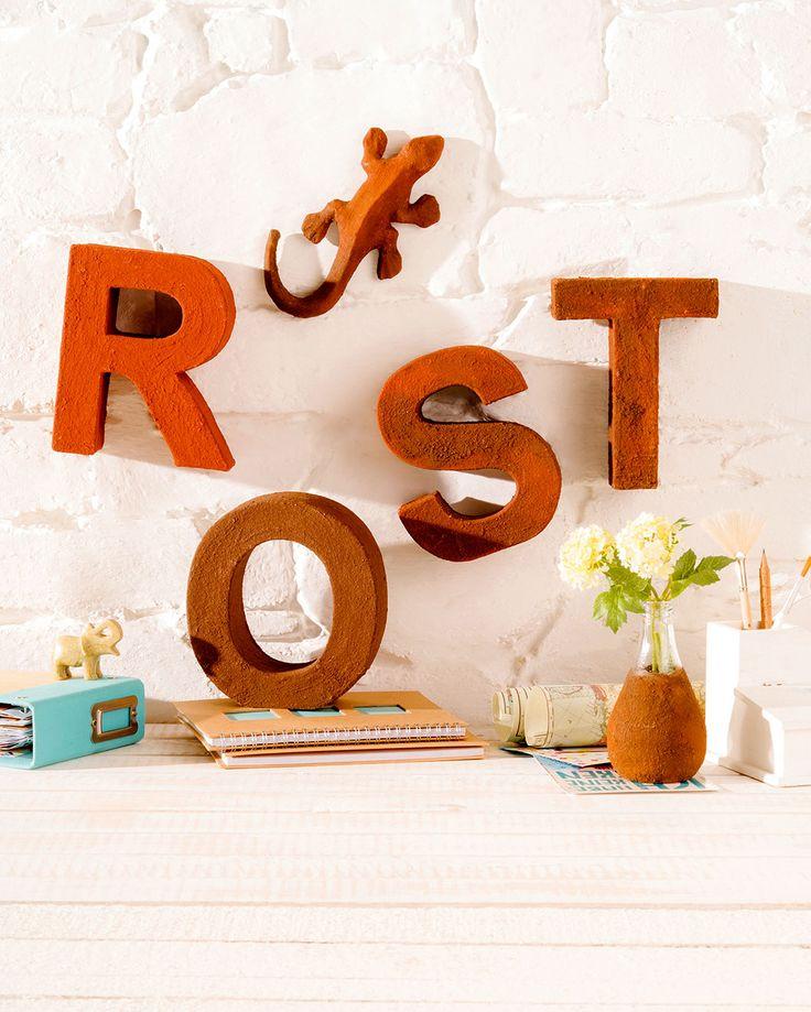 """Easy Rost Gecko (Idee mit Anleitung – Klick auf """"Besuchen""""!) - Rost ist Trend und die Farbe passt ideal in die bunte Jahreszeit. Dieser hübsche Gecko macht sich sehr gut als Herbstdeko."""