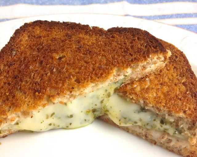 These Fabulous Best Grilled Cheese Sandwiches are Perfect and Easy: Baked Grilled Cheese Pesto Sandwiches